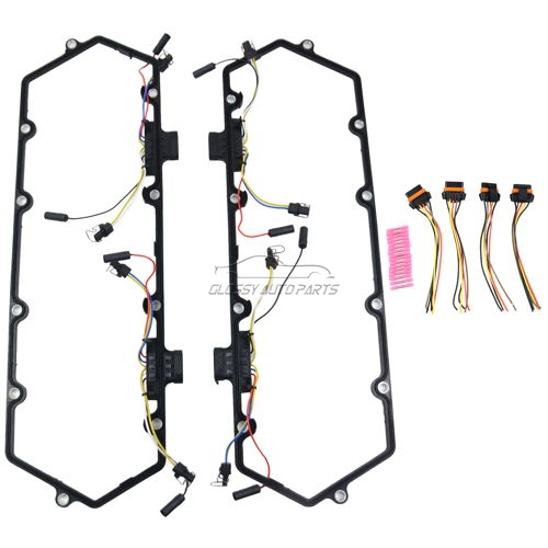 Valve Cover Gasket Kit Fuel Injector Wiring Harness Set For Ford TRUCK E350 F250 F350 7.3L V8 Diesel F4TZ9D930K F4TZ6584A 615-202 615202