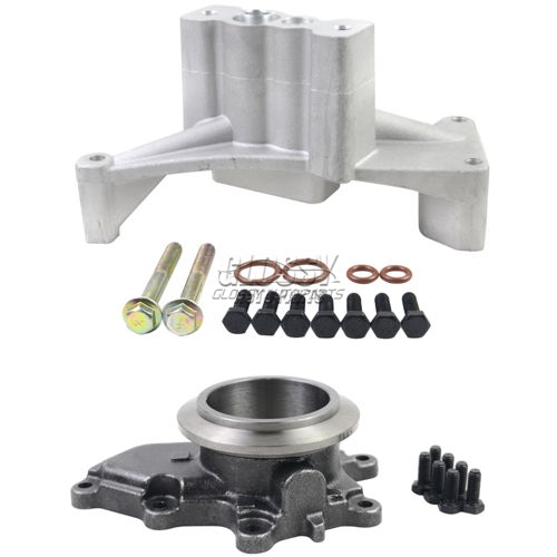 Turbocharger Pedestal Bolts Exhaust Housing For Ford 7.3 GTP38 Diesel Turbocharger Side Cover Turbocharger Bracket