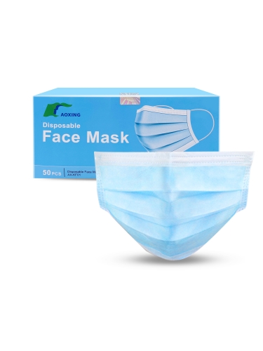 Disposable Surgical Mask Dust Breathable Earloop Antiviral Face Mask, Medical Sanitary Surgical Mask Thick 3-Layer Masks Free ship by USPS&UPS&FEDEX