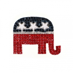 American election American flag American elephant Brooch