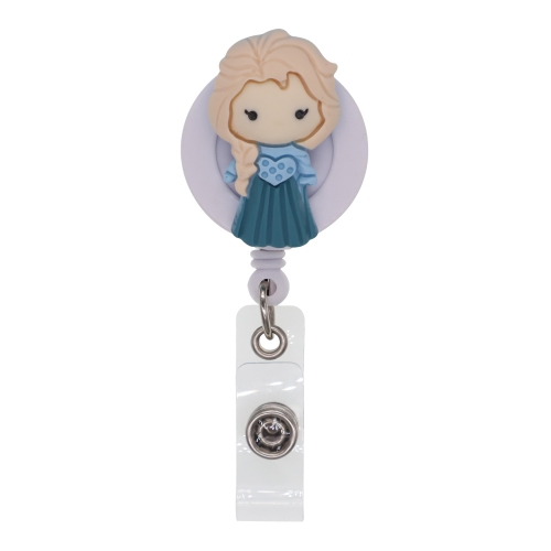 Cartoon Girl Resin Badge Reel