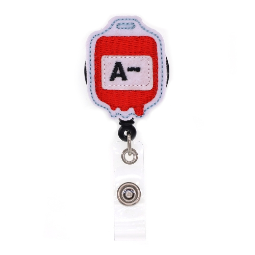 A- Blood Type Series Felt Badge Reel