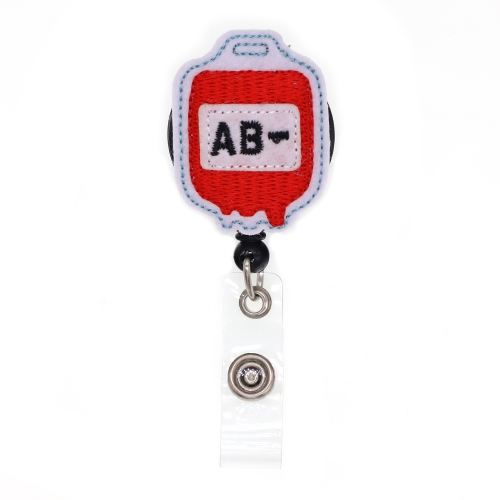 AB- Blood Type Series Felt Badge Reel