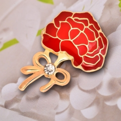 Mother's day carnation brooch high-grade brooch alloy drop brooch fashion clothing