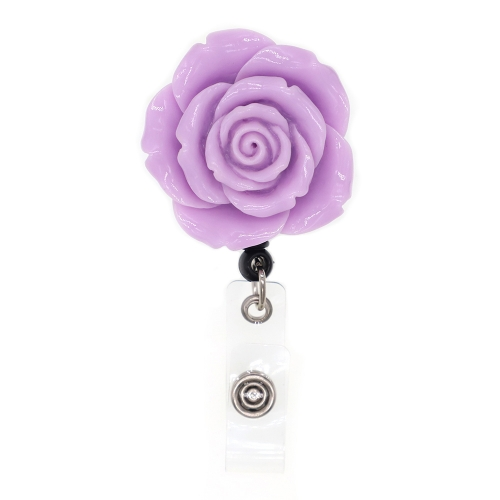 Fashion Resin Flower Badge Reel