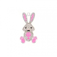 Cute Pink Rabbit Pendant