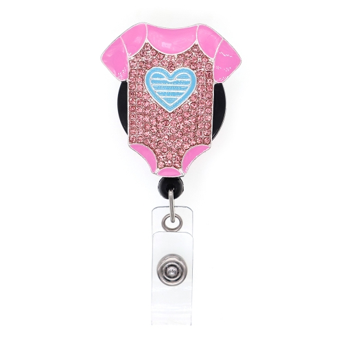 Baby Pink Clothes Badge Reel