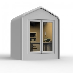 Garden office pod for working outdoor meeting booth