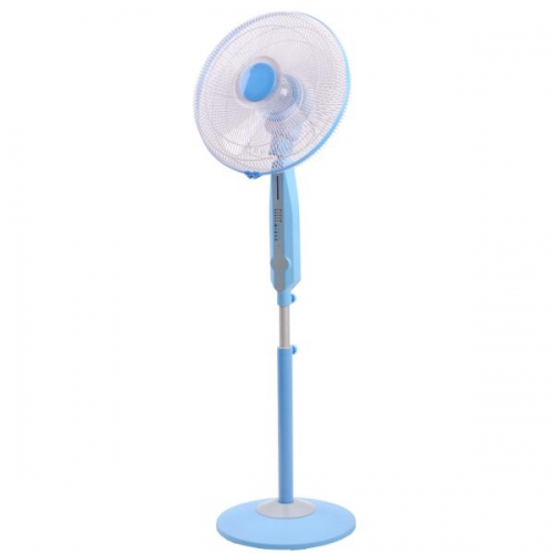"16"" Oscillating Slim Pedestal Fan with Remote Control and Timer"