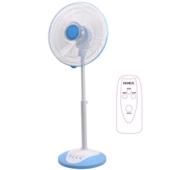 "12"" Oscillating Slim Pedestal & Desk Fan with Remote Control and Timer"