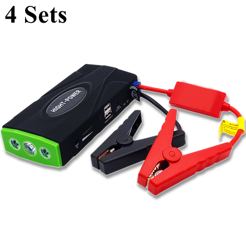 4Sets Multifunctional Car Jump Starter Portable Emergency Engine Charger Battery Booster Power Bank 12V Starting Device пусковое устройство