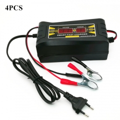 4 Sets Car Battery Charging Units Full Automatic Car Battery Charger 150V-250V To 12V 6A EU Car Charger For Car Battery HD LCD Display