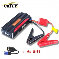 GKFLY Emergency Car Jump Starter 12V Portable Power Bank Battery Charger Booster Starting Cable Device Die sel Petrol Auto LED пусковое устройство