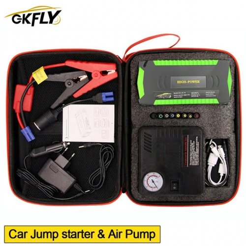 GKFLY High Power 600A Car Jump Starter Air Pump Compressor For Petrol Die sel Starting Device Car Battery Charger Booster