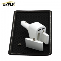 GKFLY Portable Mini Magnetic Quick Car Charger Emergency Power Bank Dual Moblie Phone 3 Types USB Ports