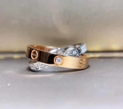 18K Gold Double Ring