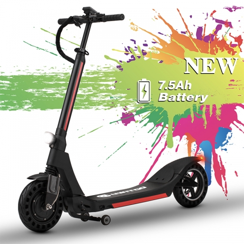 UWITGO Electric Scooter Adult Folding 10 Inch Long Range E Scooter Kick Scooter Foldable 2 Wheel 350W 36V/7.5 Ah Max Speed 25km/h Lithium-Ion Battery