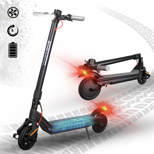 KUKUDEL electric scooter Foldable e-scooter made of aluminum alloy, multifunctional LCD screen, shock absorption