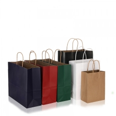 with Handles And Logo Sos Bag for Supermarket Delivery Kraft Black Paper Bags