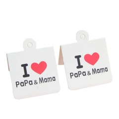 Personalized Tags Printed Paper Design Jeans Custom Logo Brand Clothing Hang Tag