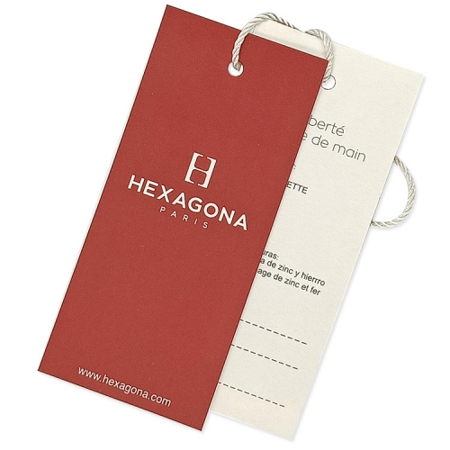 Custom Paper Size Tags Product Hand Label Hangtags for Clothing Own Logo Clothing Tag