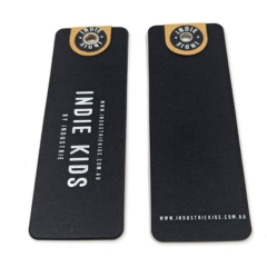 High Quality Shirt Hangtags Luxury Black Paper Clothing Custom Label Design Hangtag
