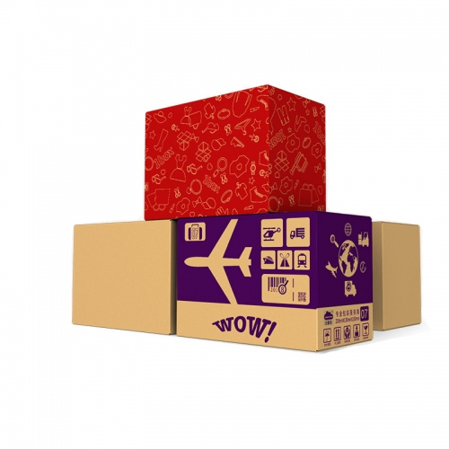 Custom Foldable Cardboard Box Red Kraft Printed Recycled Folding Corrugated Shipping Boxes