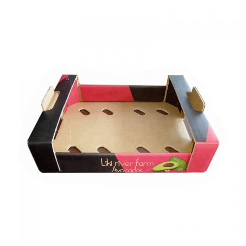 Color Cardboard Kraft Fruit Apple Custom Corrugated Shipping Boxes Packing Carton Packaging Box