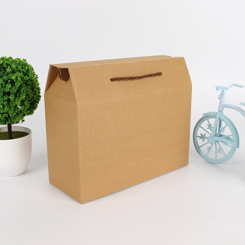 Cardboard with Handle Corrugated Carton Packaging Gift Custom Shipping Box Mailers Printing