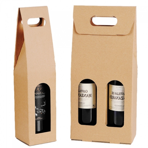 Kraft Paper with Clear Window Corrugated Accessories Gift High Quality Shipping Cardboard Wine Box