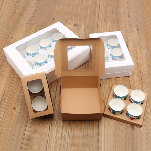 Cheap Boxes Unique Elegant Folding Mini Packaging Food Grade Kraft Paper Cake Packing Box