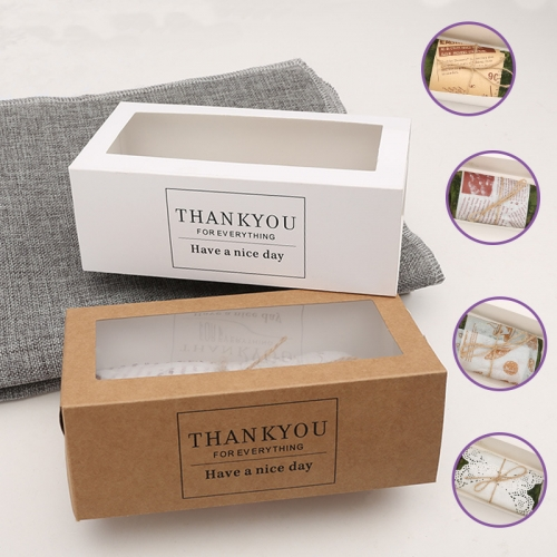 Individual Cupcake Custom Portable Rectangle Window Kraft Swiss Roll Paper Box For Cake