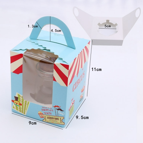 with Handle Pink Foldable Design Gift Packaging Paper Small Cup Cake Box