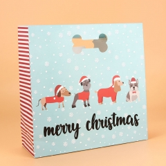 Gift Bags Christmas with Ribbon Kids Party Cheap Printing Wholesale Paper Bag Packaging