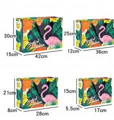 Big Flamingo India Clothing Packaging Hard Personalized Custom Printed Paper Bags