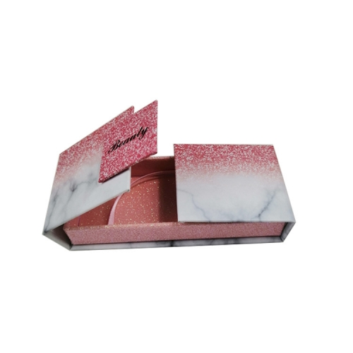 Lash Personalized Magnetic Empty Gift Fancy Pink Paper Marble Custom Eyelash Packaging Box