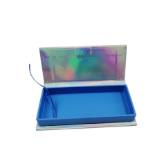 Customized Packaging with Logo Empty Magnetic Mink with Custom Holographic Eyelash Box