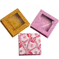 Private Label with Window Glitter Custom Gold Drawer Paper Lash Clear Eyelash Box Packaging