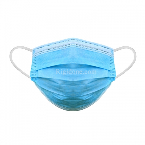 3 Ply Disposable Face Mask Blue and White Non Woven Disposable Earloop Face Mask