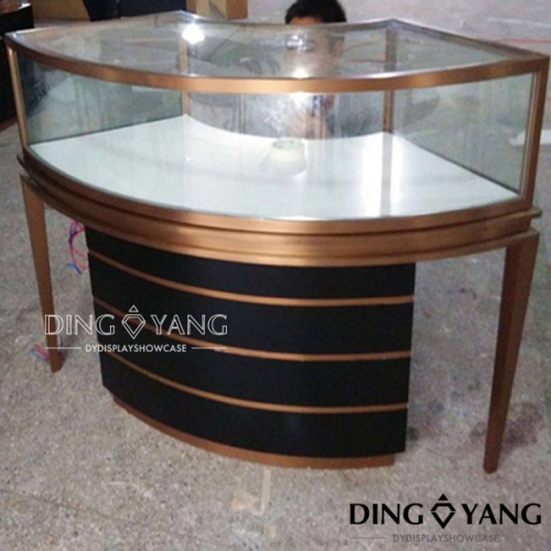 Curved Jewellery Display Counter Showcase