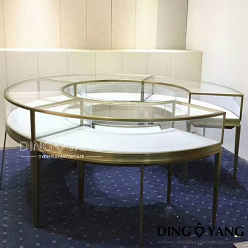 Round Jewellery Shop Display Counters