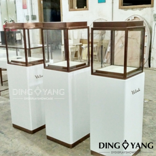 White Glass Jewelry Display Cabinets
