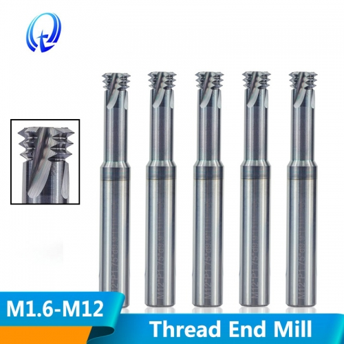 Thread Mill 3 Flute Solid Carbide mill CNC Threading Tools M1.6 M2 M2.5 M3 M4 M5 M6 M8 M10 M12