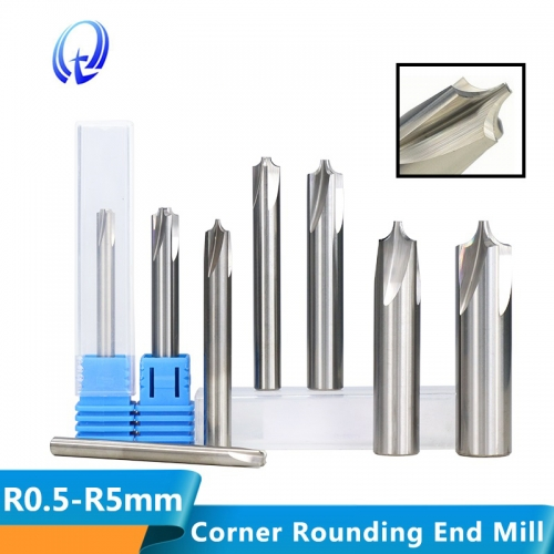 R0.5 R5.0 Corner Rounding End Mill Tungsten Carbide Router Bit for CNC Machine End Milling