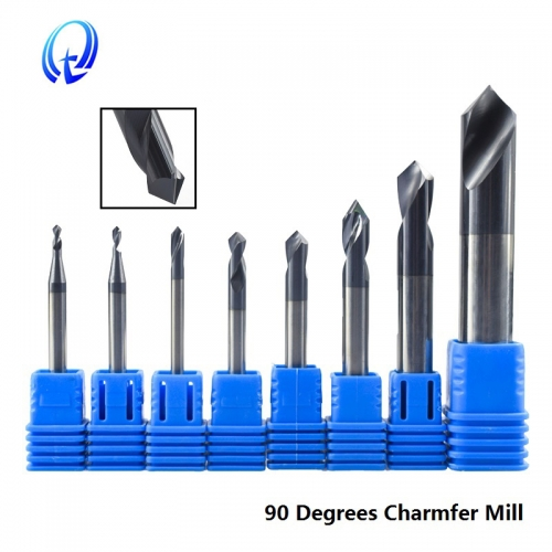 90 Degrees 2 12mm Chamfer Mill Chamfer Router Bit CNC End Milling Cutter Fixed Point Drill