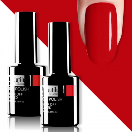 Beautilux Gel Nail Polish Red 10ml #005