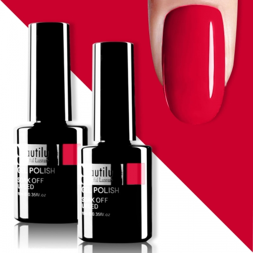 Beautilux Gel Nail Polish Red 10ml #004