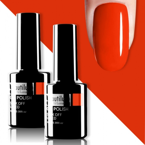 Beautilux Gel Nail Polish Orange Red 10ml #002