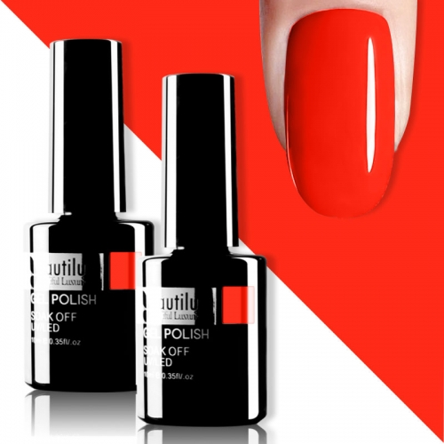 Beautilux Gel Nail Polish Orange Red 10ml #001