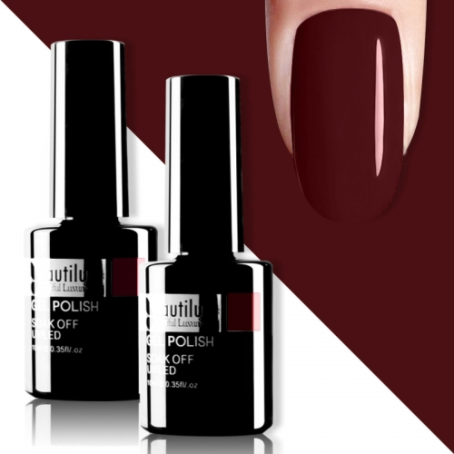 Beautilux Gel Nail Polish Wine Red 10ml #010